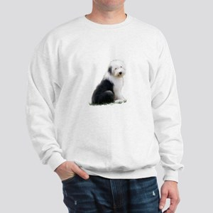 old english sheepdog puppy sitting Sweatshirt