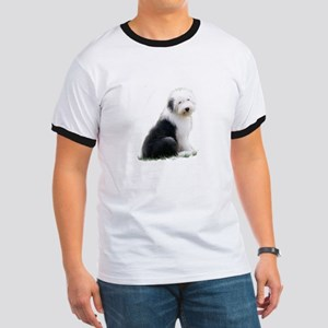 old english sheepdog puppy sitting T-Shirt