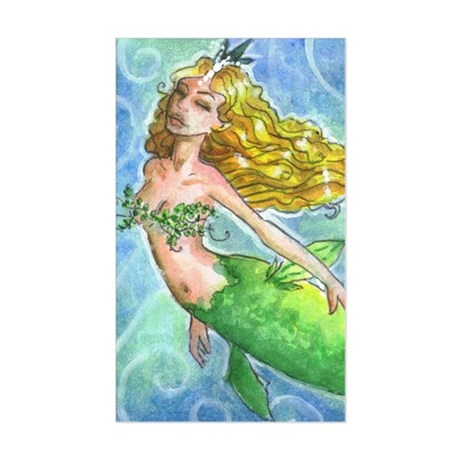 Freedom Mermaid Rectangle Sticker