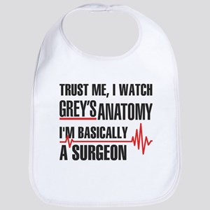 Greys Anatomy Trust me Baby Bib