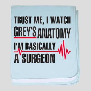Greys Anatomy Trust me baby blanket