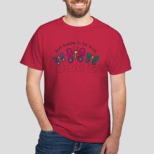 Butterfly Best Grandma Dark T-Shirt