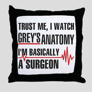 Greys Anatomy Trust me Throw Pillow