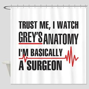 Greys Anatomy Trust me Shower Curtain