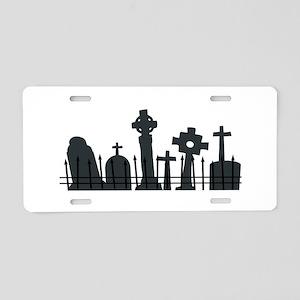 Graveyard Aluminum License Plate