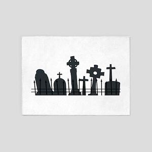 Graveyard 5'x7'Area Rug