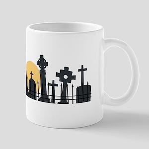 Graveyard Border Mugs