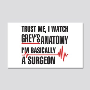 Greys Anatomy Trust me Car Magnet 20 x 12