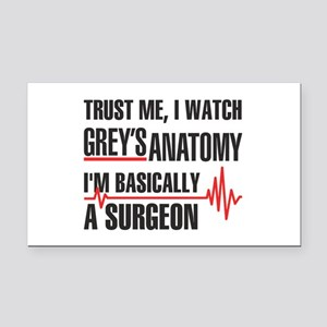 Greys Anatomy Trust me Rectangle Car Magnet