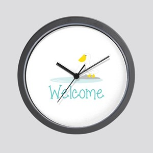 Pelican Welcome Wall Clock