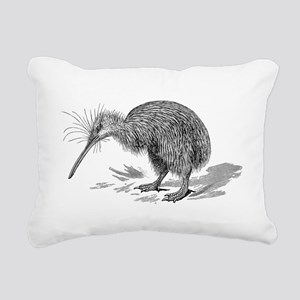 Vintage Kiwi Bird New Ze Rectangular Canvas Pillow