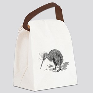 Vintage Kiwi Bird New Zealand Bir Canvas Lunch Bag