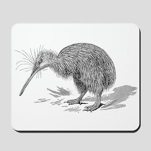 Vintage Kiwi Bird New Zealand Birds Blac Mousepad