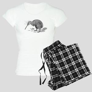 Vintage Kiwi Bird New Zeala Women's Light Pajamas
