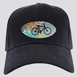 Colored Bikes Design Black Cap