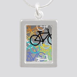 Colored Bikes Design Necklaces
