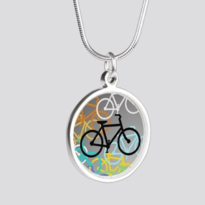 Colored Bikes Design Necklaces