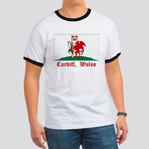 Cardiff Wales Flag Ringer T