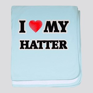 I love my Hatter baby blanket