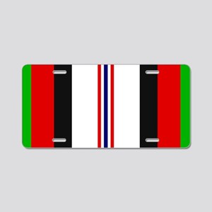 Afghanistan War Ribbon Aluminum License Plate