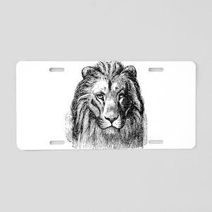Vintage Lion Head Lions Bla Aluminum License Plate