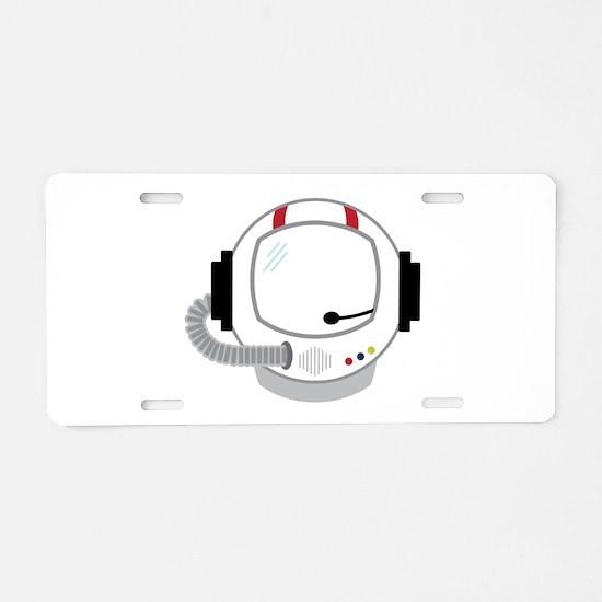 Astronot Helmet Aluminum License Plate