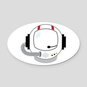 Astronot Helmet Oval Car Magnet