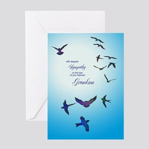 Sympathy for loss of grandson card with birds Gree