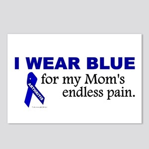 I Wear Blue For My Mom's Pain Postcards (Package o