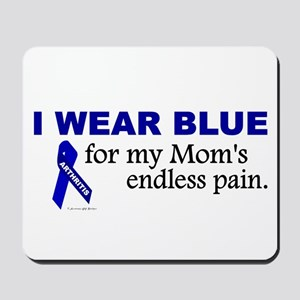 I Wear Blue For My Mom's Pain Mousepad