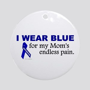 I Wear Blue For My Mom's Pain Ornament (Round)