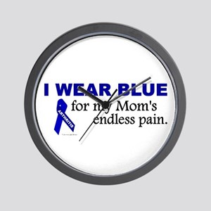 I Wear Blue For My Mom's Pain Wall Clock