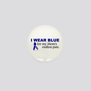 I Wear Blue For My Mom's Pain Mini Button