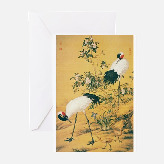 Two Cranes Greeting Cards