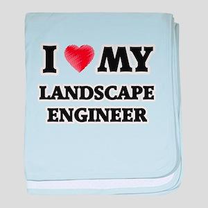 I love my Landscape Engineer baby blanket