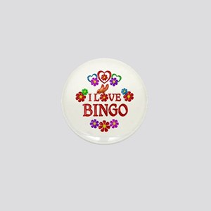 I Love Bingo Mini Button