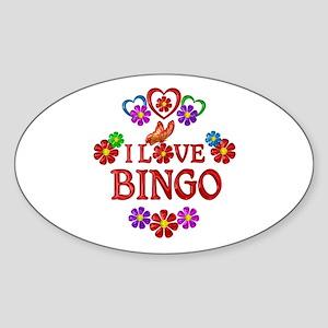 I Love Bingo Sticker (Oval)