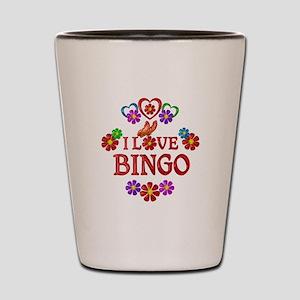 I Love Bingo Shot Glass