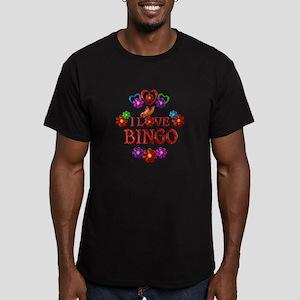 I Love Bingo Men's Fitted T-Shirt (dark)