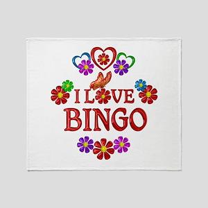 I Love Bingo Throw Blanket