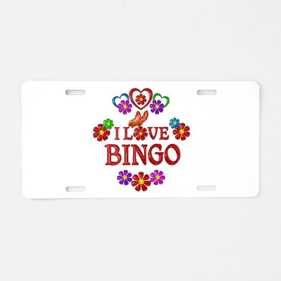 I Love Bingo Aluminum License Plate
