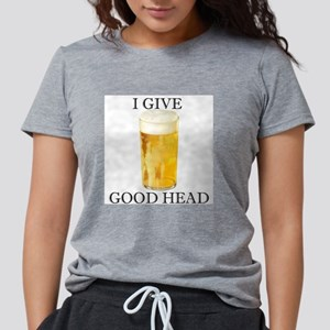 I give good head Women's Pink T-Shirt