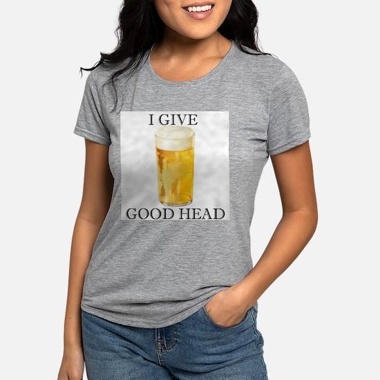 I give good head Women's Pink T-Shirt