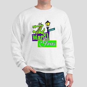 Gator at Mardi Gras  Sweatshirt