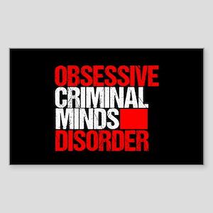 Criminal Minds Obsession Sticker (Rectangle)