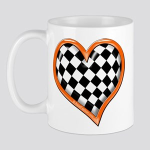 Orange Race Heart Mug