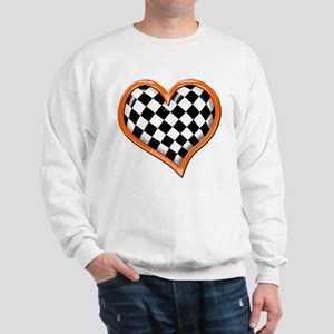 Orange Race Heart Sweatshirt