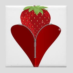 Love Strawberry Tile Coaster