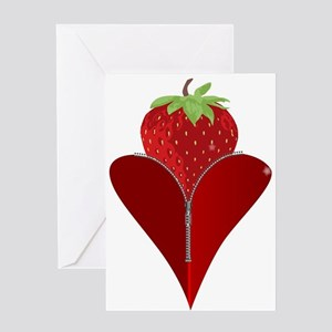 Love Strawberry Greeting Cards