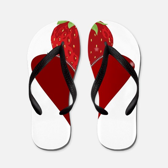 Love Strawberry Flip Flops